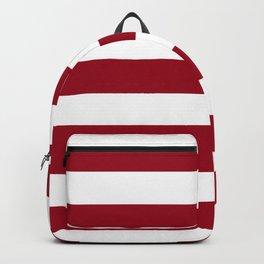 Heidelberg red[2] - solid color - white stripes pattern Backpack