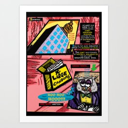 Bird of Steel Comix - Page #3 of 8 (Society 6 POP-ART COLLECTION SERIES)  Art Print