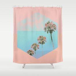 Vintage Palms Shower Curtain
