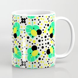 Bubbly pattern with leaves Coffee Mug