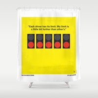 senna Shower Curtains featuring No075 My senna minimal movie poster by Chungkong
