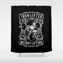 iron lifter classic Shower Curtain