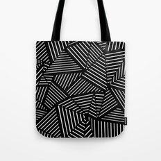 Ab Linear Zoom Black Tote Bag