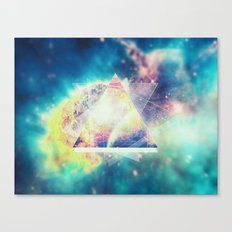 Awsome collosal deep space triangle art sign Canvas Print