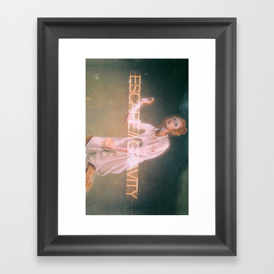 Escape Gravity And Into Space Framed Art Print
