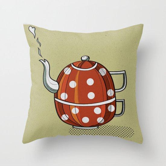 Tea party  Throw Pillow