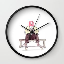 Skate Jock Wall Clock