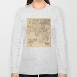 Map of the City of Boston and Vicinity (1907) Long Sleeve T-shirt