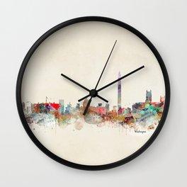 washington dc skyline Wall Clock