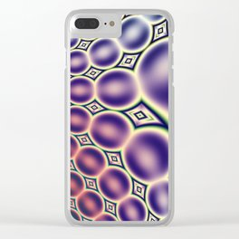 Bubble Pattern Clear iPhone Case
