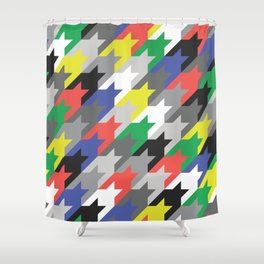 Multicolor houndstooth Shower Curtain