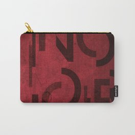 Pinot Noir Wine Typography Carry-All Pouch