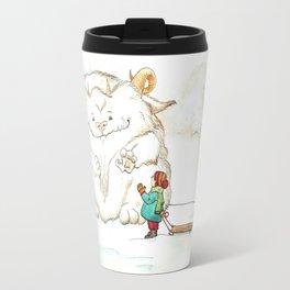 A Friendly Snow Monster Travel Mug