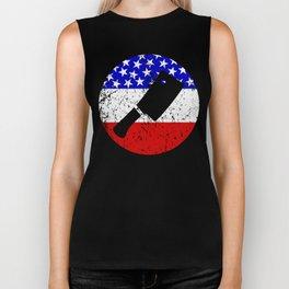 American Flag Butcher Biker Tank