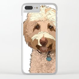 Year of the Dog - Labradoodle Clear iPhone Case