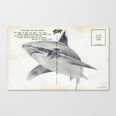 Postcard Shark Canvas Print