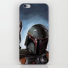 Boba Fett Art Portrait iPhone Skin