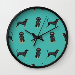 Coonhound simple cute dog breed gifts for coonhounds Wall Clock