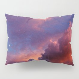 Moon in Sunset Clouds Pillow Sham