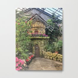 Windmill in Conservatory Metal Print
