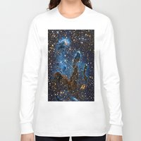 nebula Long Sleeve T-shirts featuring Nebula by Saundra Myles
