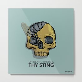 Death where is thy sting Metal Print