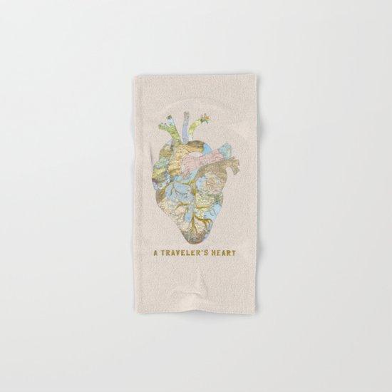 A Traveler's Heart Hand & Bath Towel