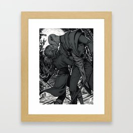 Kiss on the battlefield Framed Art Print