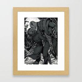 Kiss on the battlefield Framed Art Print