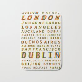 Travel World Cities Bath Mat