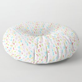 number 5- count,math,arithmetic,calculation,digit,numerical,child,school Floor Pillow