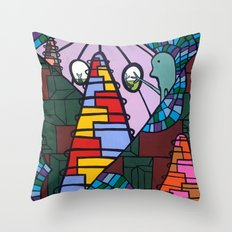 WE MISS YOU HERE in MERMAN LAND Throw Pillow