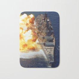 Battleship USS Iowa Broadside - 1984 Bath Mat