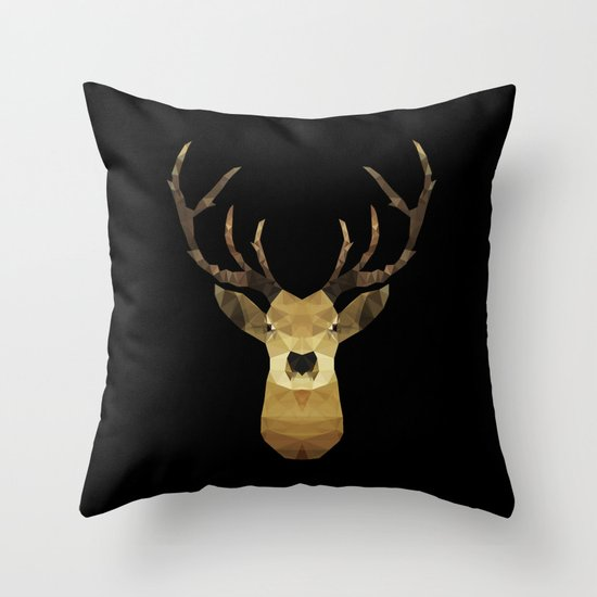 Polygon Heroes - The Deer Throw Pillow