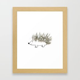Nail Hedgehog Framed Art Print