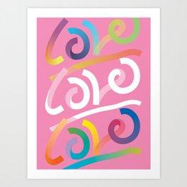 Love is Love is Love (colorful) Art Print