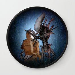 ALIEN (XENOMORPH) ILLUSTRATION Wall Clock