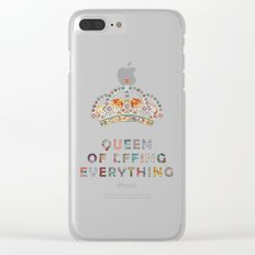 her daily motivation Clear iPhone Case