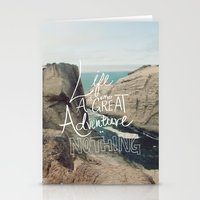 adventure Stationery Cards featuring Great Adventure by Leah Flores