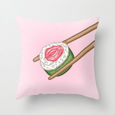 Pussy Sushi Throw Pillow