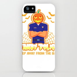 Candy Police Funny Halloween Cop  iPhone Case