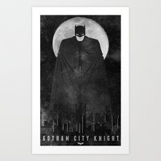 Gotham City Knight Art Print