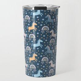 Blue Unicorns Travel Mug