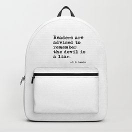 The devil is a liar Backpack