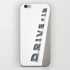 Drive In Old Vintage Sign iPhone & iPod Skin