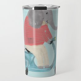 elephant scooter Travel Mug