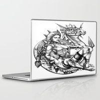 beauty and the beast Laptop & iPad Skins featuring Beauty and the beast by misscrocodile63/drawings/photo/paintings