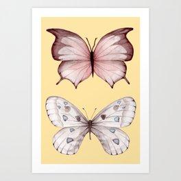 Butterfly IV vintage Art Print