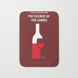 No078 My Silence of the lamb minimal movie poster Bath Mat