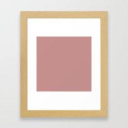 Solid Khaki Rose Color Framed Art Print